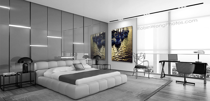 bedroom-design-with-fine-art-piece