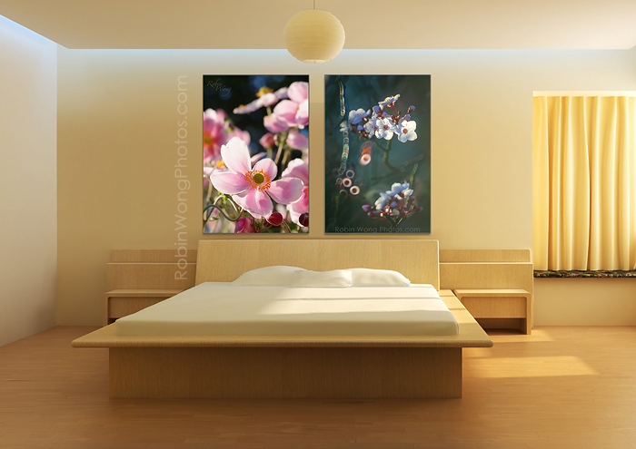bedroom-wall-decor-with-pictures