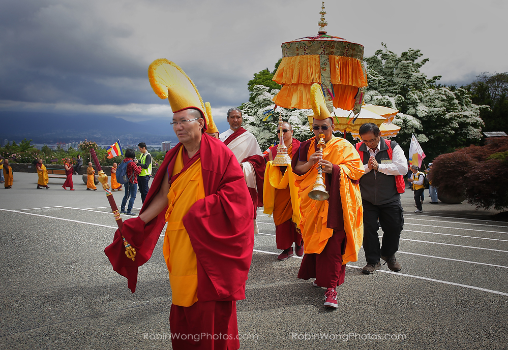 Buddhist festival images and video